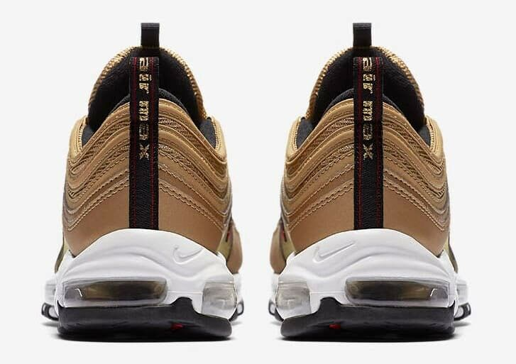 Nike Air Gold Max 97 Metallic Gold Air Women's RARE Size 5 885691-700 silver bullet wmns 8d31f8