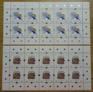 10-x-Bund-Nr-2084-2085-KB-postfrisch-BRD-Kleinbogen-Zehnerbogen-Weihnachten