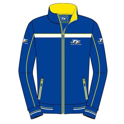 19AF2 2019 Official Isle of Man TT Races  Blue /& Yellow Full Zip Fleece