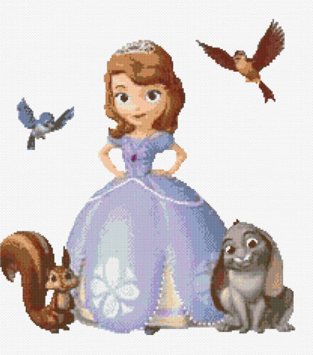 "TV//Film Cartoon Characters Disney /""Sofia/"" Counted Cross Stitch Kit"