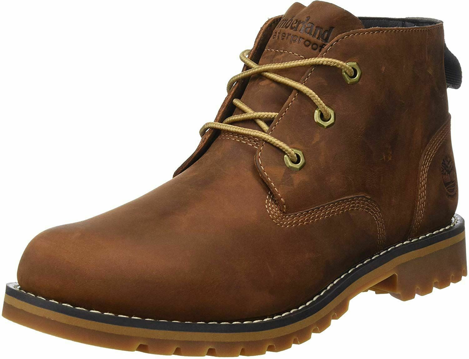 Jabeth Wilson bala Conquistar  Timberland Larchmont Chukka Brown Waterproof Mens Leather Boots for sale  online | eBay