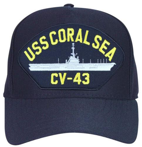 USN Ship Baseball Cap USS Coral Sea CV-43 Hat