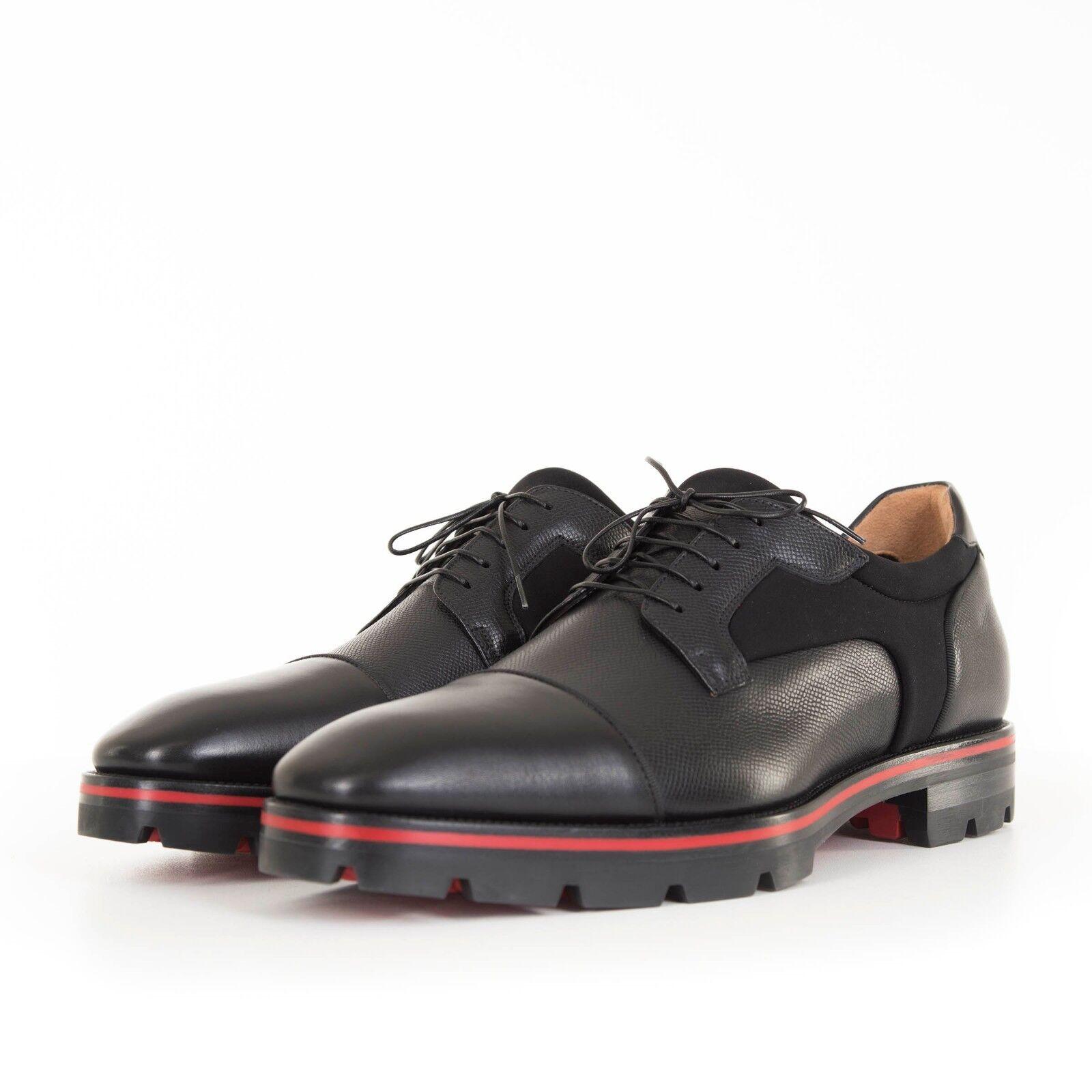 prezzi bassissimi CHRISTIAN LOUBOUTIN 1095  nero Leather Leather Leather Mika Sky Derby scarpe  a prezzi accessibili