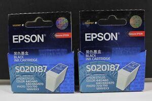 Epson-Black-Ink-Cartridges-Lot-Of-2-S020187