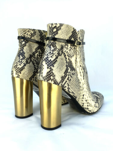 TOPSHOP LEATHER SNAKE PRINT HIGH HEEL ANKLE BOOTS SIZE UK 6 7 RRP £150