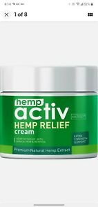 2 oz. Hempactiv Joints & Muscle Relief Cream, Infused Back, Muscles, Neck