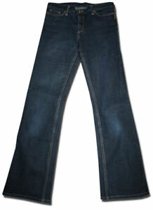 Designer-BETTINA-LIANO-Size-30-Indigo-Blue-Stretch-Denim-JEANS
