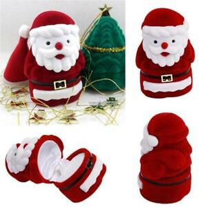 Christmas-Pattern-Santa-Claus-Velvet-Jewelry-Gift-Box-Earring-Ring-Case-WST-02