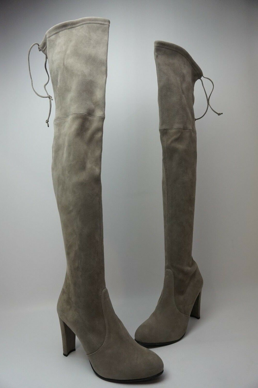 per offrirti un piacevole shopping online Stuart Weitzman Weitzman Weitzman Highland Over the Knee Topo grigio Suede stivali Dimensione 11 M  best-seller