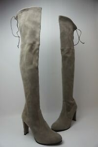 d14f4b55d7d Image is loading Stuart-Weitzman-Highland-Over-the-Knee-Topo-Grey-
