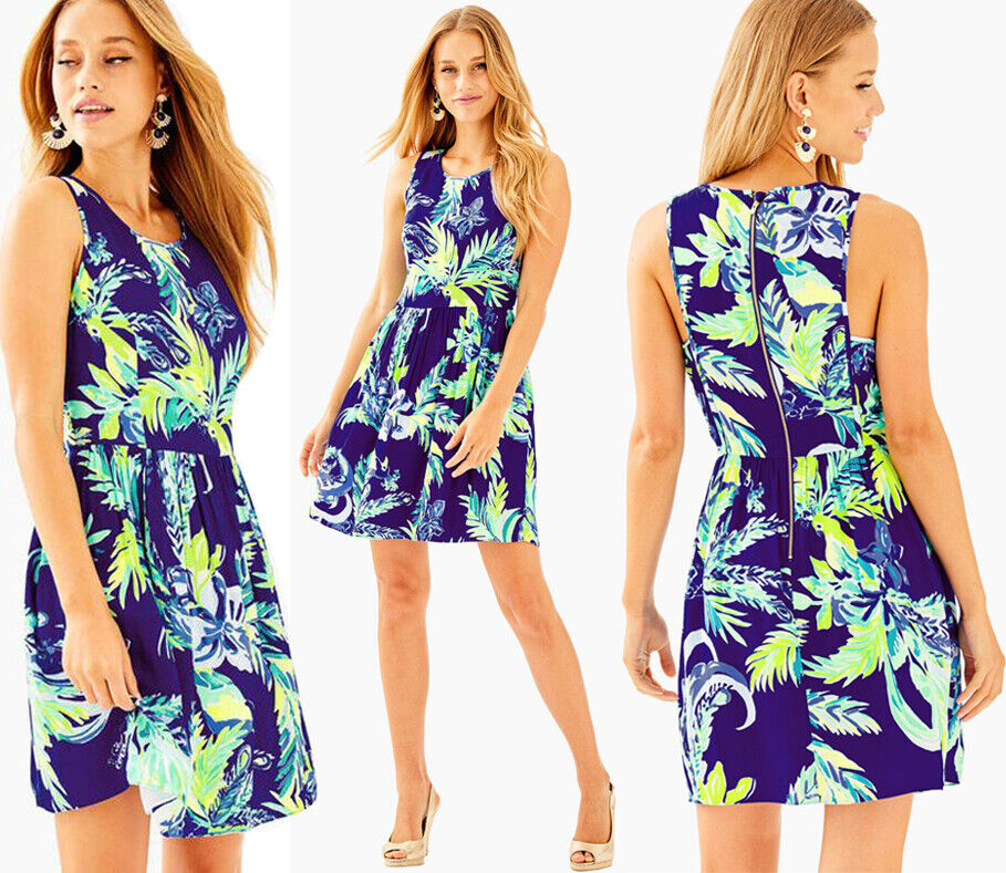 Lilly Pulitzer Kassia Twiljus blå Nest To Nothing Fit & Flare Dress 4
