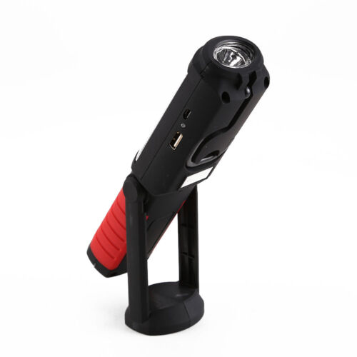 LED COB Hand Torch Inspection Lamp Flexible Work Light Up Handheld Rechargeable