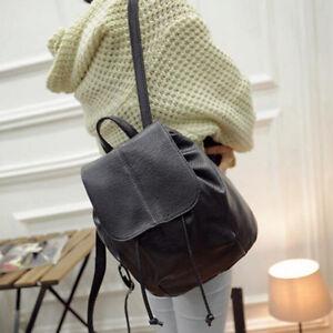 Ladies PU Leather Rucksack Backpack Travel Shoulder College School Bags Rivet