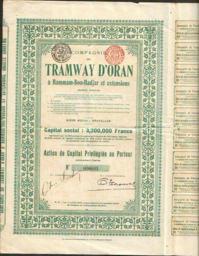 TRAMWAY d'ORAN (ALGÉRIE BELGIQUE) (F)