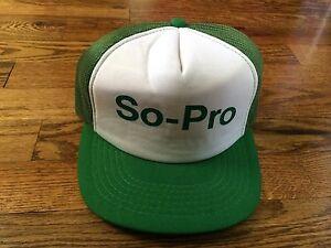 Vintage-SO-PRO-Trucker-Cap-Hat-Mesh-Snapback