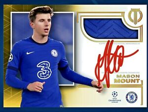 Topps Kick MASON MOUNT Auto/Patch Gold LEGENDARY **DIGITAL CARD**