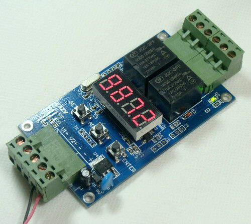 12V Dual Programmable Relay Control Cycle Delay Timer Timing Switch Module