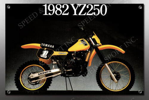 VINTAGE  1982 YZ250 MOTORCYCLE BANNER