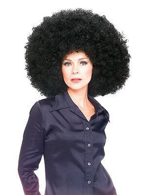 Adult Super Giant Huge Afro Wig Black Fancy Dress Costume 60s 70s 80s Disco BN