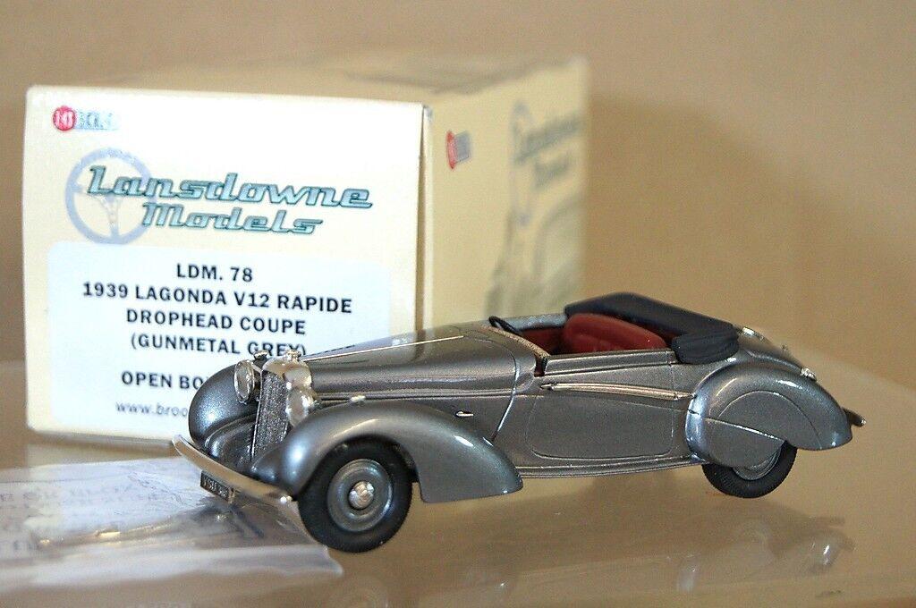 Lansdowne Modelle LDM78 1939 Lagonda V12 Rapide Drophead Coupe Grau Neuwertig