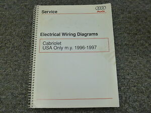 1996 1997 audi cabriolet convertible electrical wiring diagram rh ebay com  audi 80 cabriolet wiring diagram and electrical system schematics