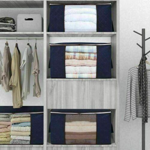 3er Set Kleidung Aufbewahrungstasche Bettdecke Große Kleideraufbewahrungstasche