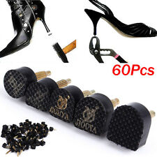 60PCS 5-Sizes High Heel Shoe Repair Tips Taps Pins Dowel Lifts Replacement Set
