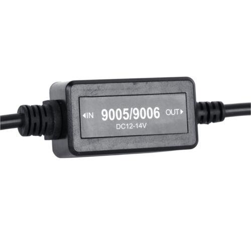 2Pack 9005 9006 LED DRL Fog Light Canbus Load Resistor Warning Canceller Decoder