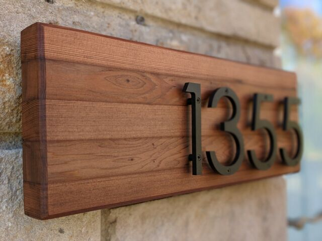 4 inch Modern House Address Numbers Letters, color choices