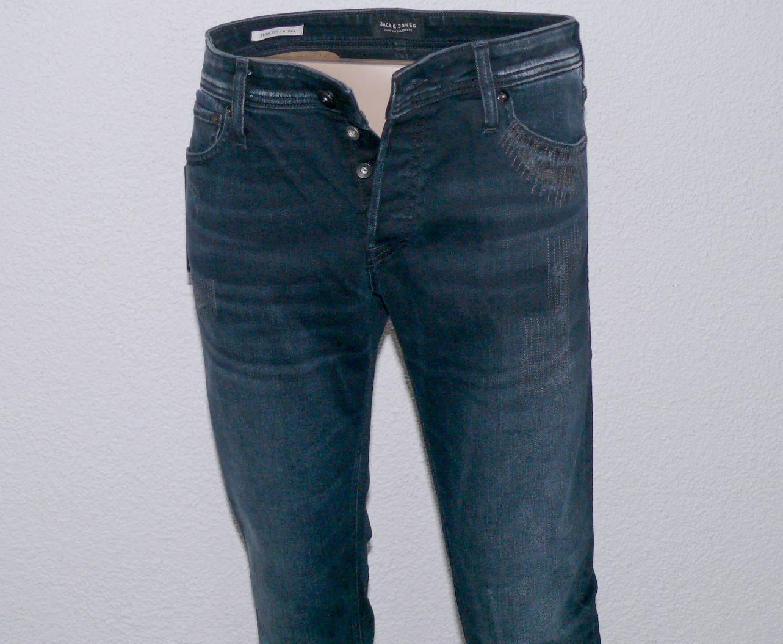Jack & Jones Glenn ORG AM 785 Herren Stretch Jeans Jeans Jeans Hose Slim Fit W33 L32 Navy b34600