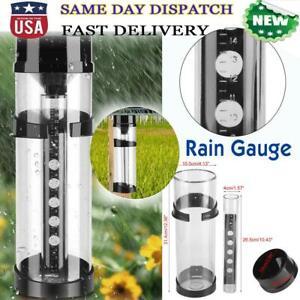 Easy-Read-Cylinder-Water-Rain-Gauge-Raining-Rainfall-Measure-Tool-Garden-Farming