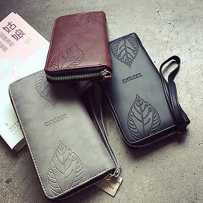 2017 New Women Purse Clutch PU Leather Wallet Long Card Holder Phone Zip Handbag