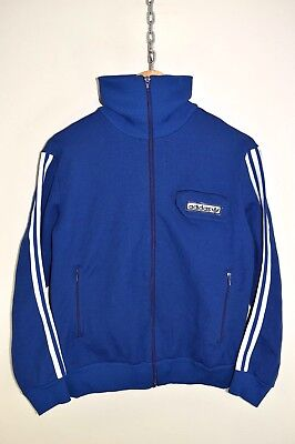 vtg 70s ADIDAS OLDSCHOOL CASUALS RETRO TRACK JACKET TRACKSUIT TOP SIZE D48 SMALL | eBay