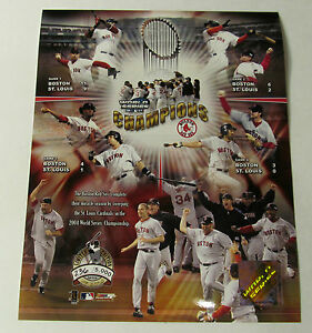 BOSTON-RED-SOX-SERIAL-2004-WORLD-SERIES-8X10-PHOTO-LICENSED-VERY-RARE