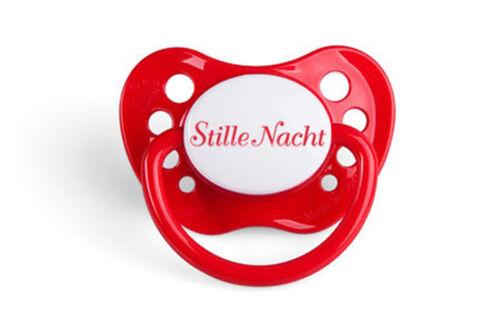 Roter Schnuller Weihnachten Deko Nuckel Baby Schnuller EINMALIG ANDERS Nuggi