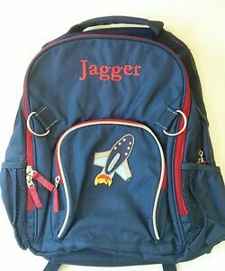 Pottery Barn Kids Large Fairfax Blue And Red Rocket Patch