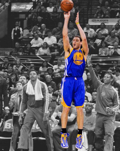 Golden State Warriors KLAY THOMPSON Glossy 8x10 Photo Spotlight Print Poster