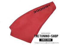 FOR MITSUBISHI 3000GT GTO 1990-01 HANDBRAKE GAITER RED LEATHER EMBROIDERY