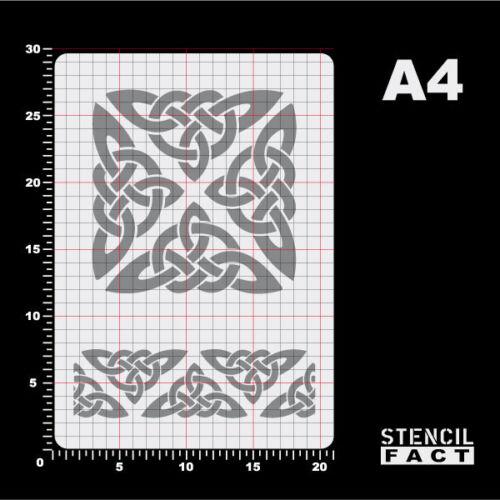 BO459 A4 Schablone Keltischer Knoten Triskele Flechtband