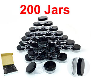 200-Packs-10-Gram-10ML-High-Quality-Makeup-Cream-Cosmetic-Sample-Jar-Containers