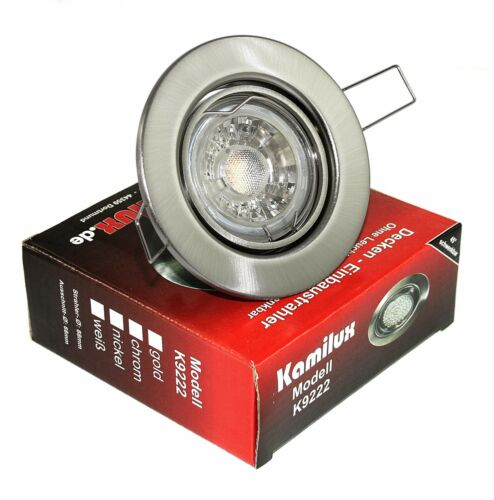 5-15x LED Recessed Spotlight k9222 Dimmable Tilt Recessed Lamp Ceiling Spot 5w