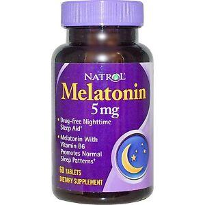 Best Sleep Aid 2020 Natrol Melatonin 5mg Sleep Aid Tablets 60ct  Expiration Date 04
