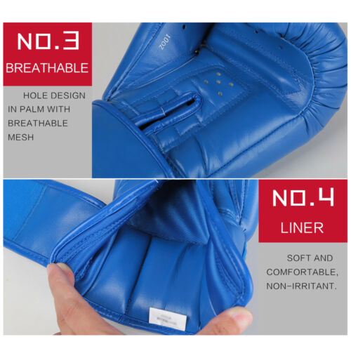 Wesing Boxing Gloves Aiba Approved MMA Martial Arts Punch Boxing Mitts