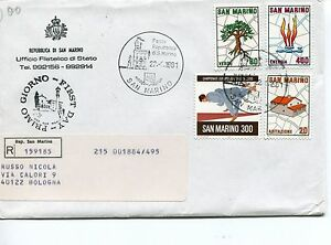 1981 Fdc San Marino Camp. Jr Judo Piano Regolat. Raccomandata First Day Cover