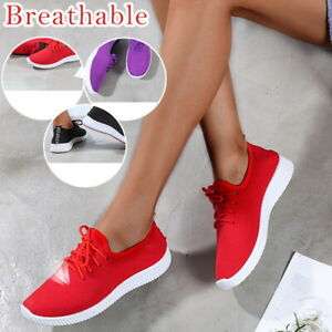 Baskets-Sneakers-Femme-Lacet-Antiderapant-Chaussures-Comfy-Plate-Sneakers-25