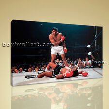 Muhammad Ali Boxing Sonny Liston Sports Single Canvas Wall Art Picture Print