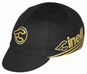 CINELLI BLACK GOLD TEAM CYCLING CAP NEW BIKE RIDE HAT  **