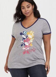 Torrid Disney Pixar Up Heather Grey Crew Tee SIZE 0 12 Large NWT