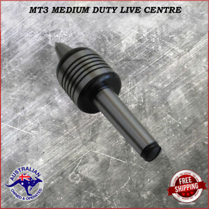 Live centre Extended Nose 3MT triple bearing Medium Duty M12 drawbar.