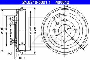 Ate (24.0218-5001.1) Bremstrommel für ABARTH AUTOBIANCHI FIAT LANCIA SEAT